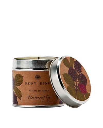 Rosy Rings Natural Soy Candle in Tin, Blackberry Fig