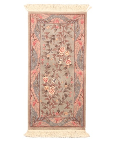 Roubini Chinese Art Deco Hand Knotted Rug, Multi, 4' 2 x 2' 1