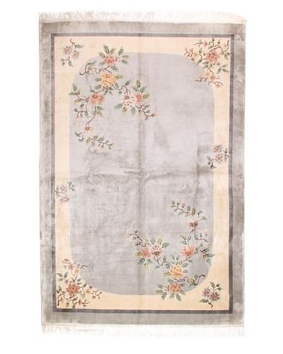 Roubini Art Deco Chinese Silk Rug, Multi, 9' x 6'