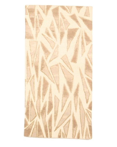 Roubini Campion Platt Palm Shards Hand Knotted Rug, Multi, 2' x 4'