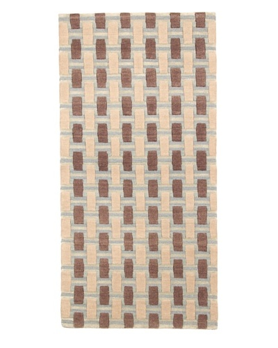 Roubini Campion Platt Rough Terrain Hand Knotted Rug, Multi, 2' x 4'