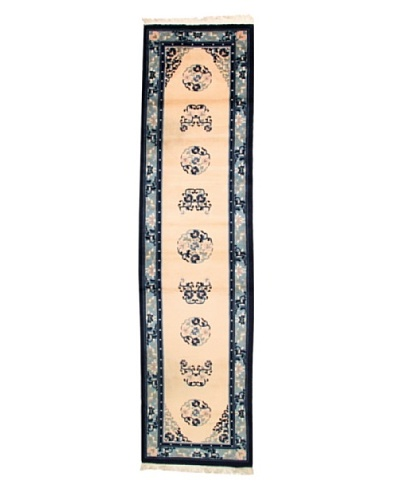 Roubini Chinese Antique Finish Rug, Peach/Navy, 2' 7 x 10' 3 Runner