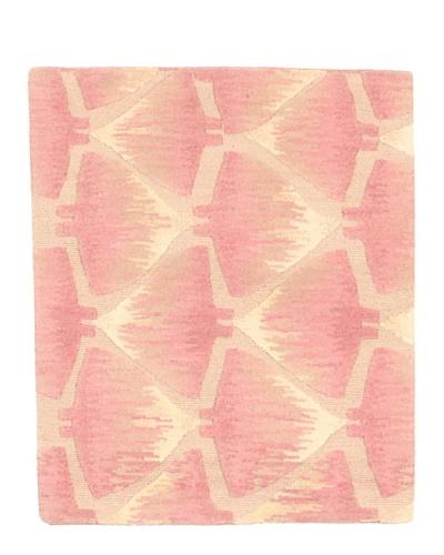 Roubini Campion Platt Manta Rays Hand Knotted Rug, Multi, 2' Square