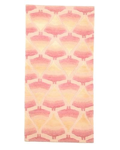 Roubini Campion Platt Manta Rays Hand Knotted Rug, Multi, 2' x 4'
