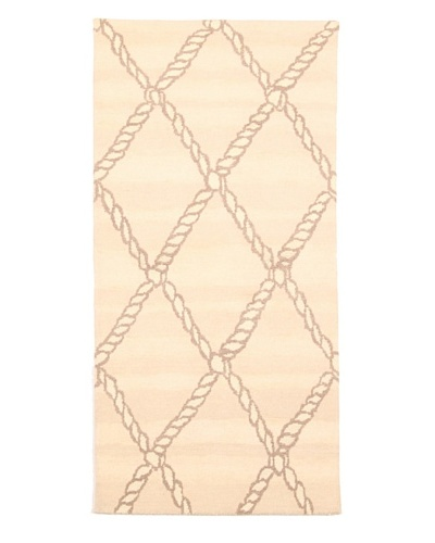 Roubini Campion Platt Big Catch Hand Knotted Rug, Multi, 2' x 4'