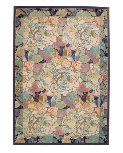 Roubini Soft Flowers Hand Knotted Wool Rug, Multi, 6' x 9'