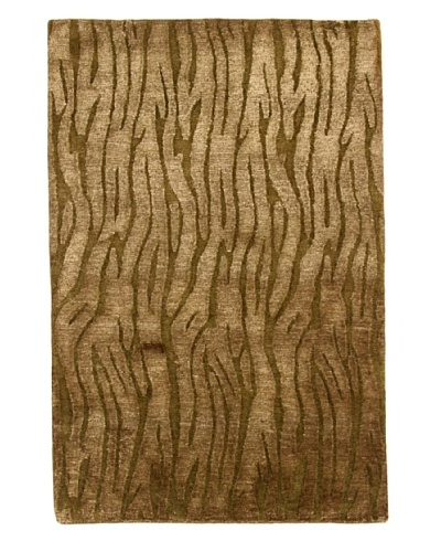 Roubini Moss 2 Hand Knotted Rug, Multi, 2' x 3'