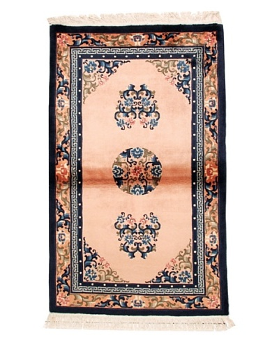 "Roubini Chinese Antique Finish Rug, Light Pink/Peach/Navy, 3' 2"" x 5'"