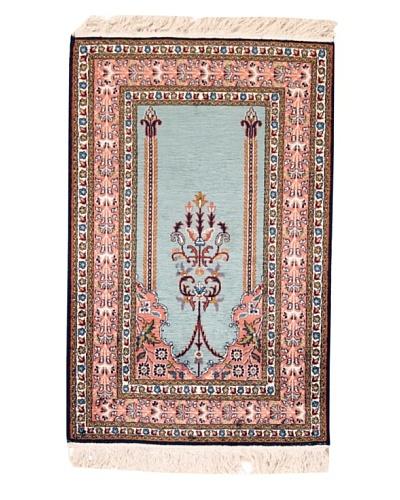 "Roubini Srinagar Silk Fine Rug, Multi, 3' 1"" x 2'As You See"