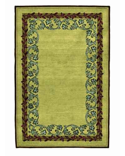 Roubini Garden Hand Knotted Wool & Silk Rug, Multi, 6' x 9'