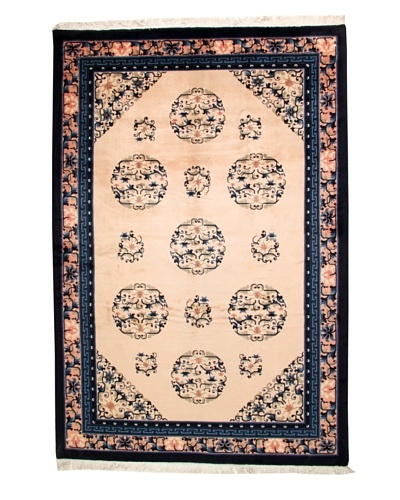 Roubini Chinese Antique Finish Rug, Peach/Navy, 6' 2 x 9' 2