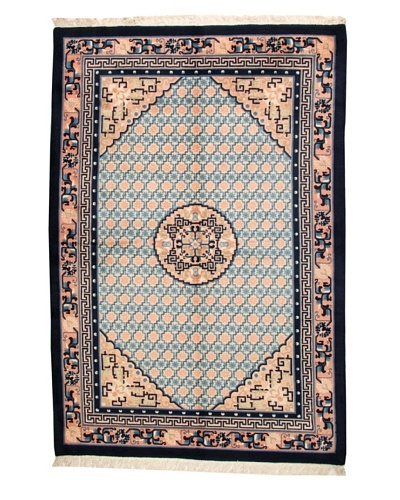 Roubini Chinese Antique Finish Rug, Peach/Navy, 6' 3 x 9' 2