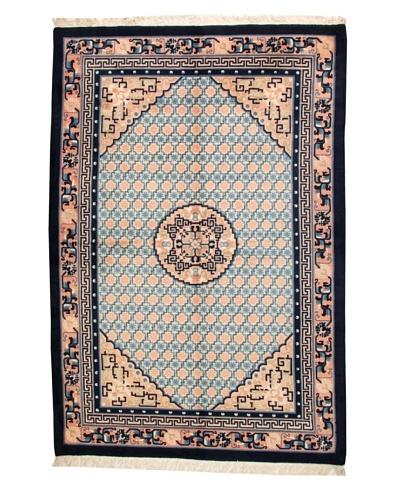 Roubini Chinese Antique Finish Rug, Peach/Navy, 6' 3 x 9' 2