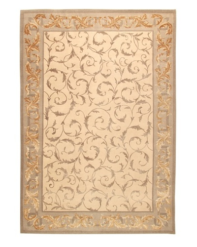Roubini Tibetani Tibetan Cashmere & Silk Luxury Rug, Cream Multi, 5' 5 x 8'