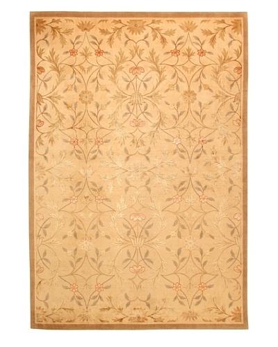 Roubini Tibetani Tibetan Yak Spun Wool & Silk Luxury Rug, Cream Multi, 5' 5 x 8'