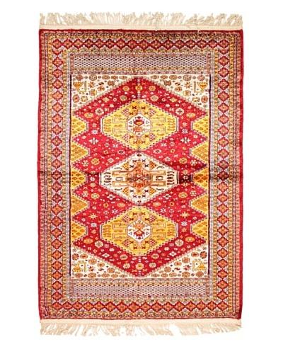 Roubini Sultan Pure Silk Rug, Multi, 5' 8 x 4' 1