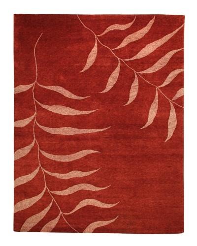 Roubini Tibetani Tibetan Handspun Rug, Red, 8' x 10'