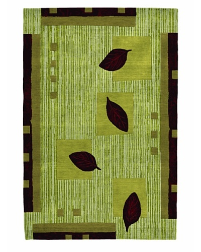 Roubini Adour Hand Knotted Wool & Silk Rug, Multi, 6' x 9'