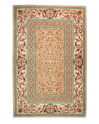 Roubini Palace Hand Knotted Wool & Silk Rug, Multi, 6' 7 x 9' 10