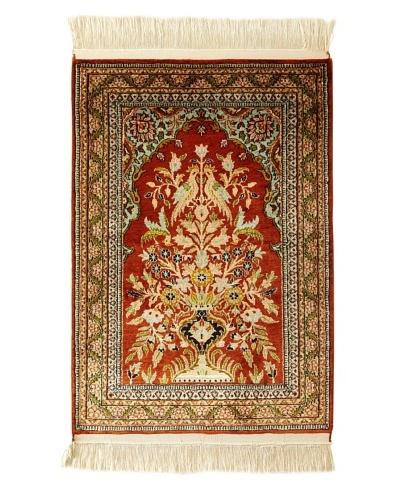 Roubini Srinagar Silk Rug, Multi, 3' x 2'