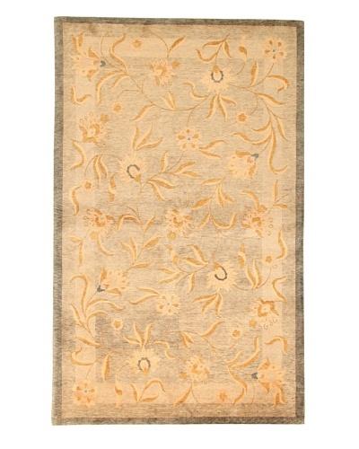 Roubini Tibetani Tibetan Vegetable Dyed Rug, Celadon, 5' 5 x 8'