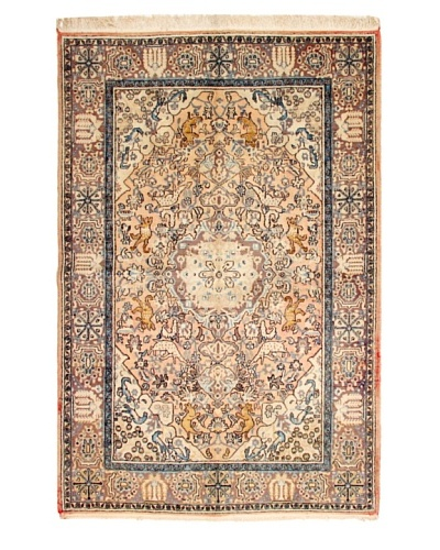 Roubini One of a Kind Old Kum with Silk Rug [Blue Multi]