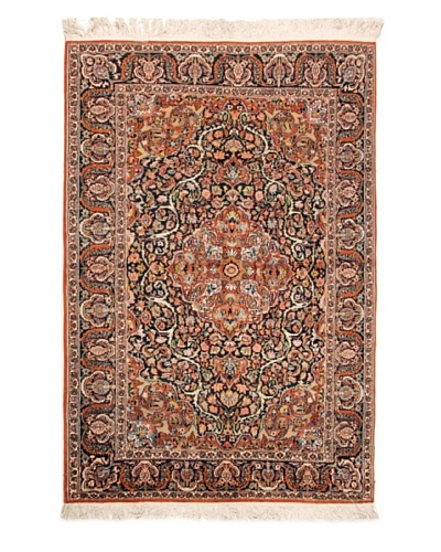 Roubini Fine Srinagar Silk Ground Rug, Multi, 6' 2 x 4' 2