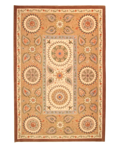 Roubini Two Flowers Hand Knotted Wool Rug, Multi, 6' 7 x 9' 10