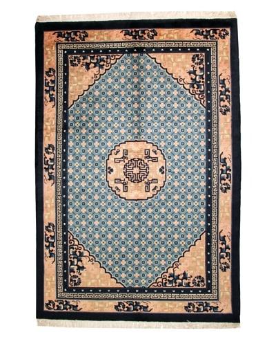 "Roubini Antique Finish Chinese Rug, Blue/Cream, 9' 2"" x 6' 2"""