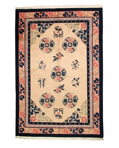 Roubini Chinese Antique Finish Rug, Peach/Navy, 6' x 9'
