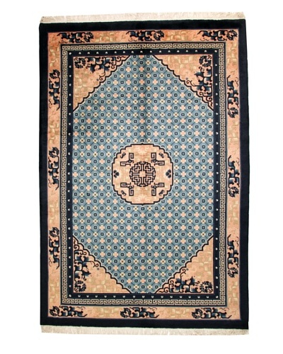"Roubini Chinese Antique Finish Rug, Blue/Cream, 6' 2"" x 9' 2"""