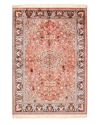 "Roubini Srinagar Silk Fine Rug, Multi, 5' 11"" x 4' 2"""