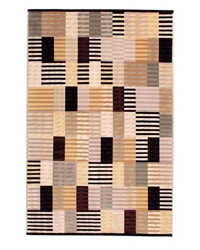 Roubini Metropolis Hand Knotted Wool Rug, Multi, 4' 8 x 7' 3