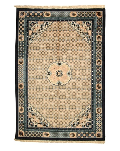 Roubini Antique Finish Chinese Rug, Cream/Navy, 9' 2 x 6' 2