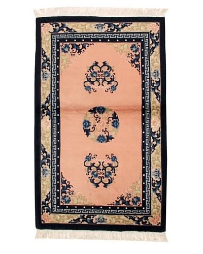 "Roubini Chinese Antique Finish Rug, Light Pink/Cream/Navy, 3' 2"" x 5' 2"""