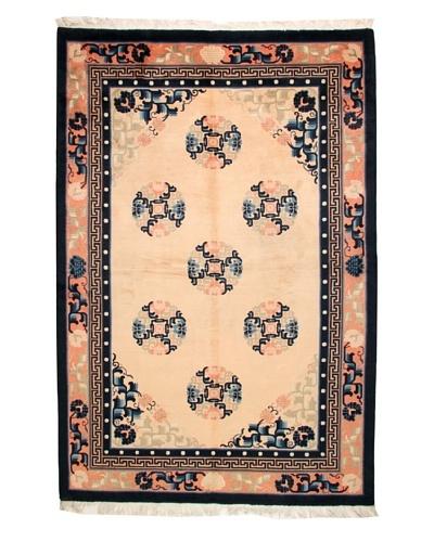 Roubini Chinese Antique Finish Rug, Peach/Navy, 6' x 9'