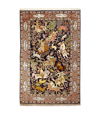 Roubini Srinagar Silk Fine Rug, Multi, 4 5 x 7'