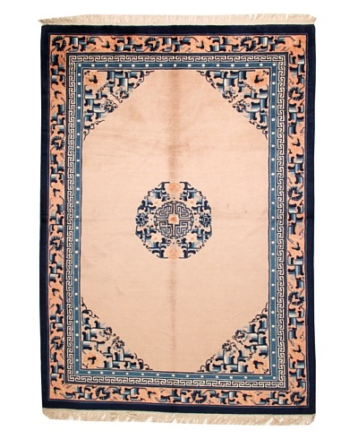 Roubini Chinese Antique Finish Rug, Peach/Navy, 5' 8 x 8' 2