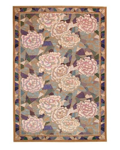 Roubini Mosaic Garden Hand Knotted Wool Rug, Multi, 6' x 9'