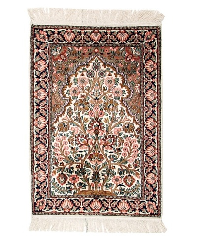 Roubini Srinagar Silk Fine Rug, Multi, 3' 1 x 2' 1
