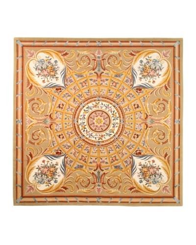 Roubini Venetian Hand Knotted Wool & Silk Rug, Multi, 8' Square