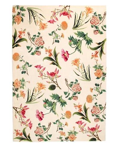 Roubini Primavera Hand Knotted Wool & Silk Rug, Multi, 6' x 9'