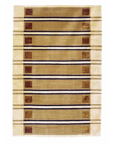 Roubini Promenade Two-Hand Knotted Wool & Silk Rug, Multi, 6' x 9'