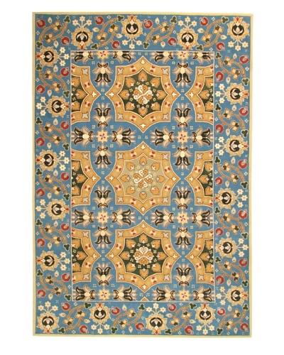 Roubini Roma Hand Knotted Wool & Silk Rug, Multi, 6' x 9'
