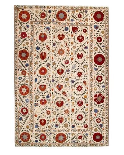 Roubini Suzani 4-Hand Knotted Wool & Silk Rug, Multi, 6' x 9'