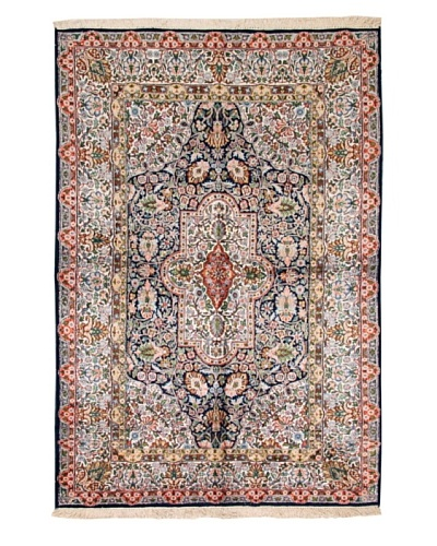 Roubini One of a Kind Srinigar Silk Fine Rug [Blue Multi]