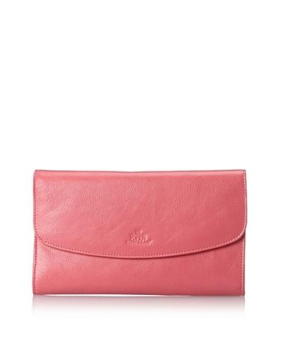 Rowallan of Scotland Women's Christal Leather Jewelry Pouch/Clutch, Honeysuckle Pink