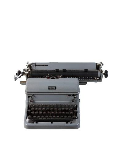 Royal Vintage Typewriter, Grey