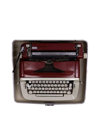Royal Vintage Typewriter, Red/Cream