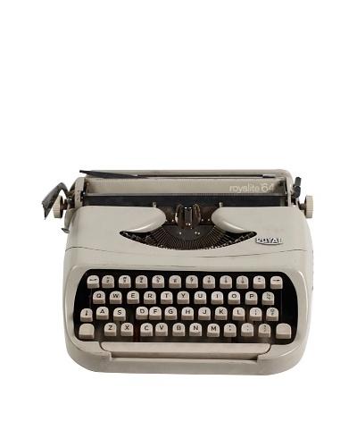 Royal Vintage Typewriter, Stone